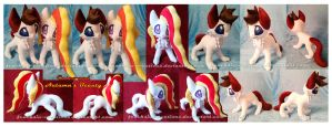 Casco and  Autumn's Beauty plushies by Feneksia-Creations