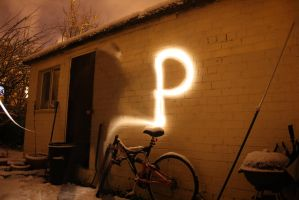 Lightpainting Alphabet - P by UnlimitedEdition