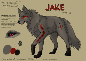 Ref Sheet For Wolf-warrior234140 by Merrimiesh