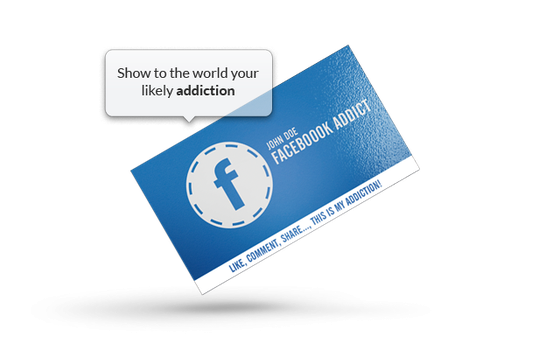 Facebook Addict - Business Card by khaledzz9