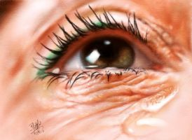 IPad finger painting of another eye by chaseroflight