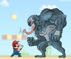 Mario vs Venom by MatthewPetz