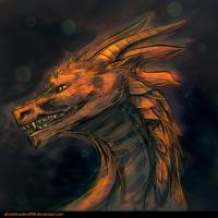day 1 - dragon sketch +video by Silverbloodwolf98