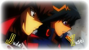 Judai and Yusei by Frankie1167