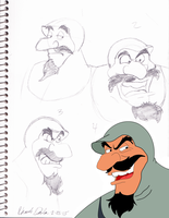 Duke Igthorn Sketch Dump with some color by Kabocha24