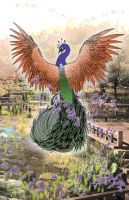 Flying Peacock by Maszeattack
