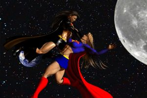 Supergirl vs Dark Supergirl by plinius