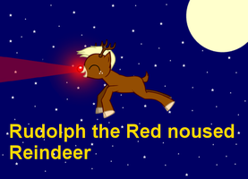 Rudolph the Red noused Reindeer MLP style by Pandalove93