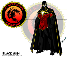 Black Sun, Red with White Star by skywarp-2