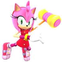 Sonic Boom: New Amy Render by Nibroc-Rock
