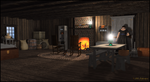 Old Homestead Rustic Cabin Interior by jbjdesigns