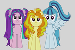 The Dazzlings as ponies. by animegx43