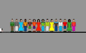 pixel characters wallpaper by B-positive