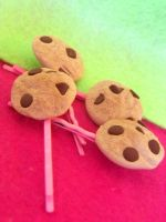 chocolate chip cookie bobby pins by kawaiibuddies