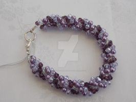 Purple and lilac AB spiral rope bracelet 345a by Quested-Creations