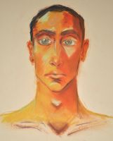 Self-Portrait Pastel by gtothemaximpower
