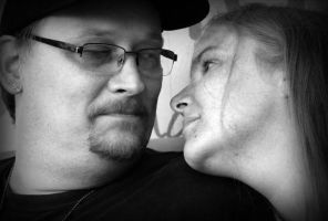 Lorrie and I, Black and White by CalicoWoolfe