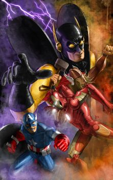 Cover Test 2 (Yellow Jacket and The Avengers) by Prestegui