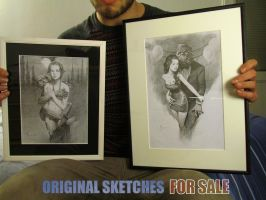 Original sketches for sale! by Miles-Johnston
