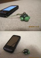 Clay Turtle Cellphone strap by petalxrain