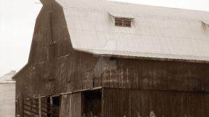 Old sepia barn by Catsie95