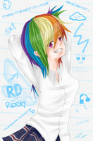 Rainbow Dash: School version by JenYeonGI