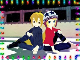 [MMD] Snowy BFFs by Party-P
