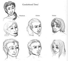 Dw - Genderbend Characters by leighanief