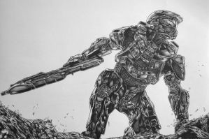 Master Chief by youbesonicimtails
