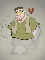 Walter Sobchak - Rough/Inprogress #2 by Wiggagram