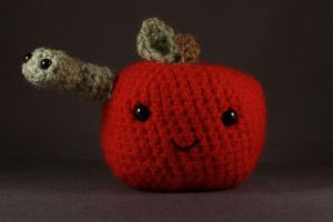 Andy Apple and Wanda Worm by TheJunkShoppe