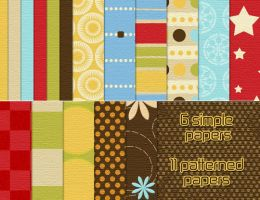 Summer's Fun Kit - papers by noema-13