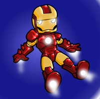 The invincibly cute Iron Man by desfunk
