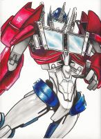 Optimus in Watercolors by just-nuts