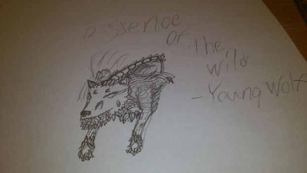 Magic the Gathering:Essence of the wild+Young Wolf by Creator-Ponyus