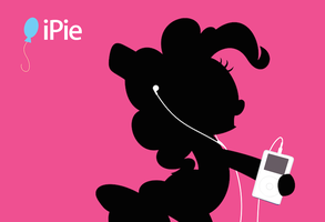 iPie - Pinkie Pie + iPod parody poster by purpletinker