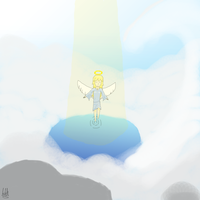 An angel ascending by SourHex