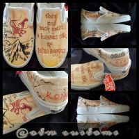 Lord of the rings Custom Vans lonely mountain by VeryBadThing