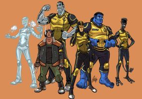 X-Men Redesigns WIP by ChrisJamesScott