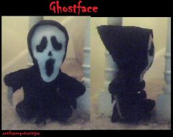 Ghostface Plushie by xEvilxPenguinxNinjax