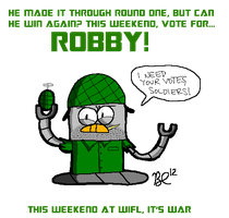VOTE FOR ROBBY IN WIFL (LINK INCLUDED) by BuddyComics