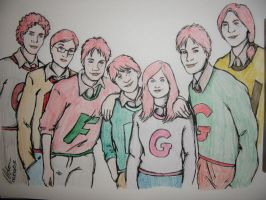 Weasley Kids by brandi3981