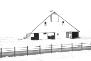 White Barn In The Snow by MoreThanNothing