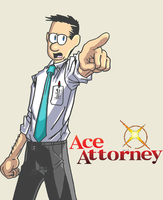Ace Attorney by eliterayquaza