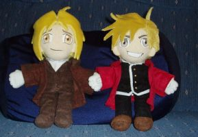 Elric brothers plushies by magickitty1972