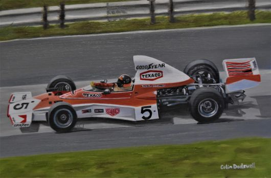 Emerson Fittipaldi in a Mclaren M23 by huckerback6