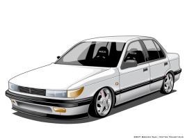 Vector 1992 Mitsubishi Lancer by BrewedWar