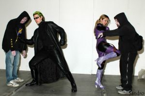wesker, jill and the zombies by k-MorrigaN