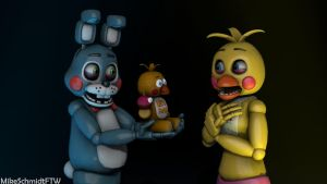 Toy Bonnie and Toy Chica by OfficerSchmidtFTW