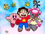 Steven, Diancie and Kirby by GustavoCardozo97